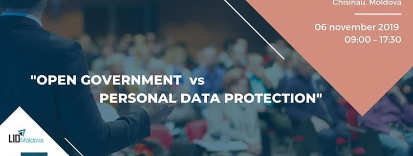 open government vs personal data conference LID Moldova