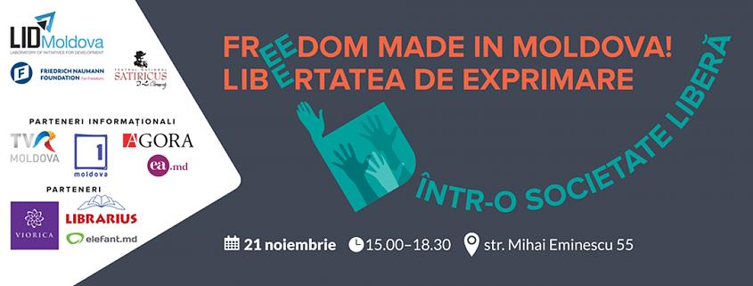 LID vă invită la evenimentul FREEDOM MADE IN MOLDOVA pe 21 noiembrie